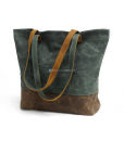 Waxed Canvas Tote Bag (2)