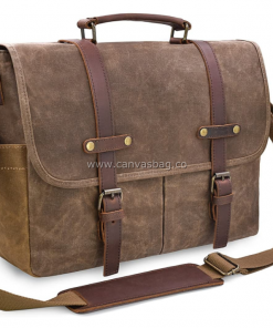 mens waxed canvas bag