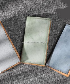 handmade leather long wallets