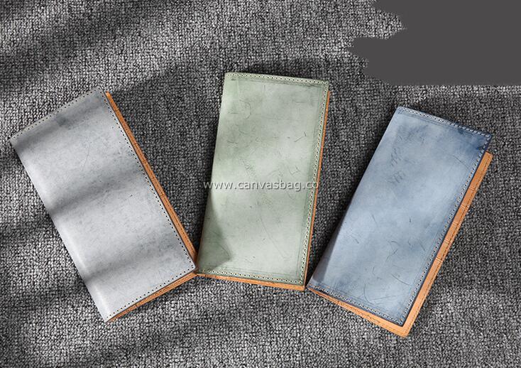 handmade leather long wallets