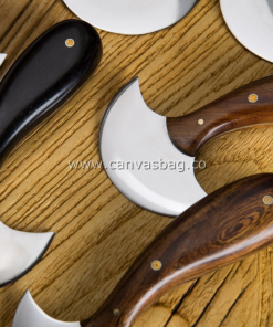 Leather Half Moon Knife