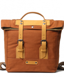 old school canvas backpack